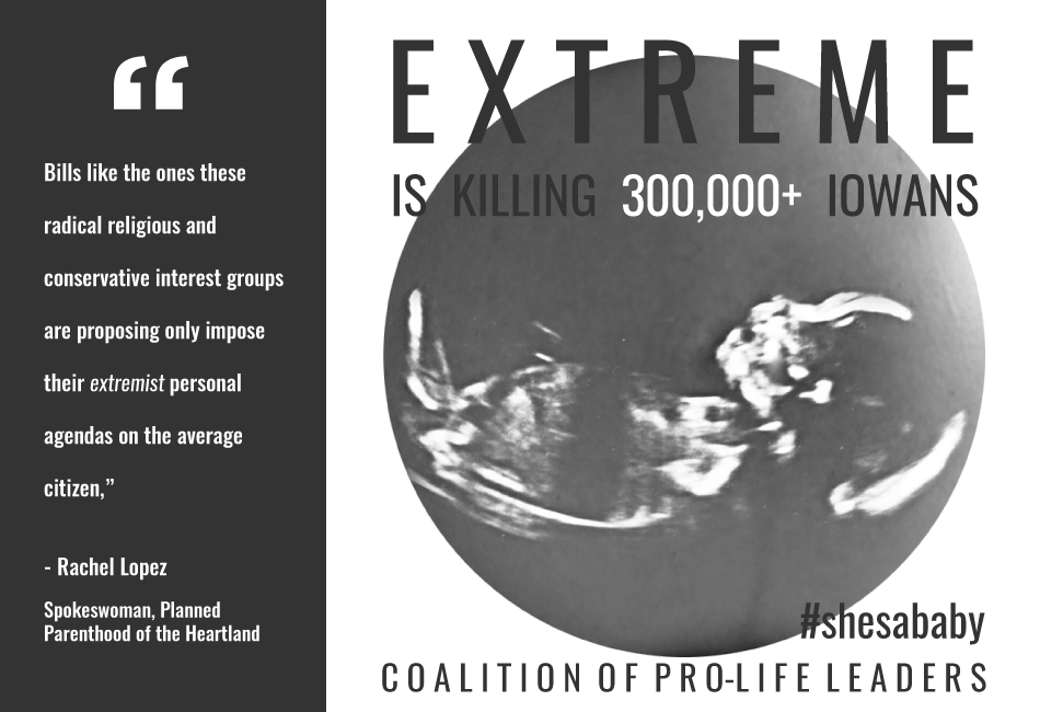Extreme is Killing 300,000+ Iowans | Coalition of Pro-Life Leaders